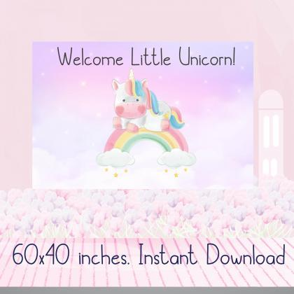 Welcome Little Unicorn Baby SHower ..