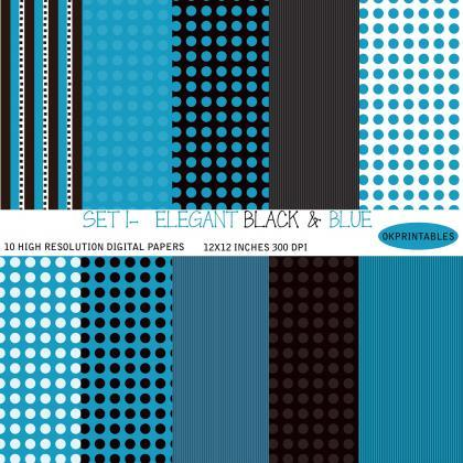 Set 001 - Elegant Digital Paper, Ge..