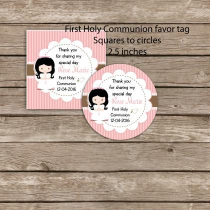 First Communion printable favor tag..
