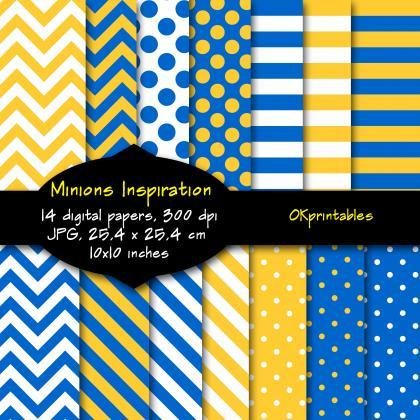 Minions Inspiration digital paper, ..