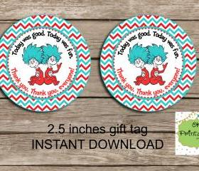 Dr Seuss favor tag -..