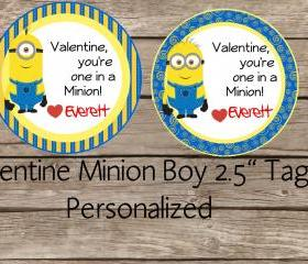 Minion boy valentine..