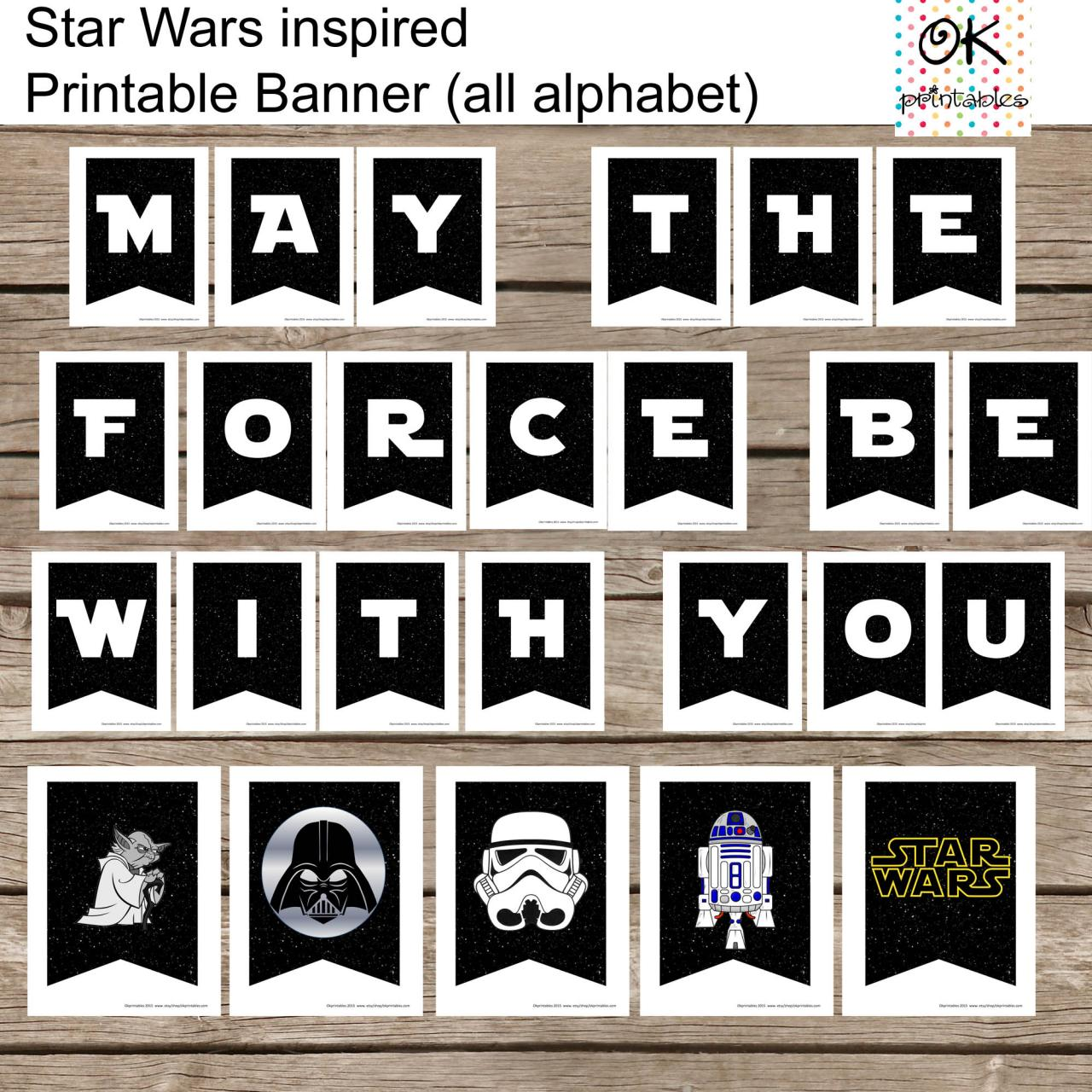 Favorit All Alphabet Star Wars Banner Printable Set - All Occassion - All  MX88