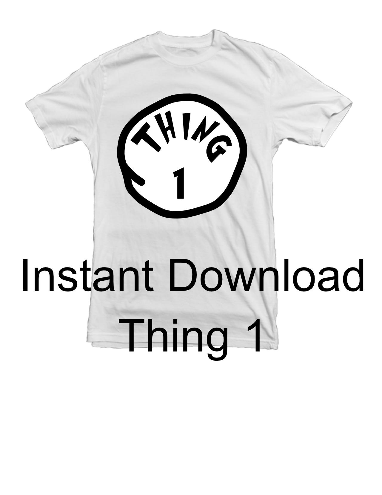 thing 1 thing 2 dr seuss inspired printable iron on clip art