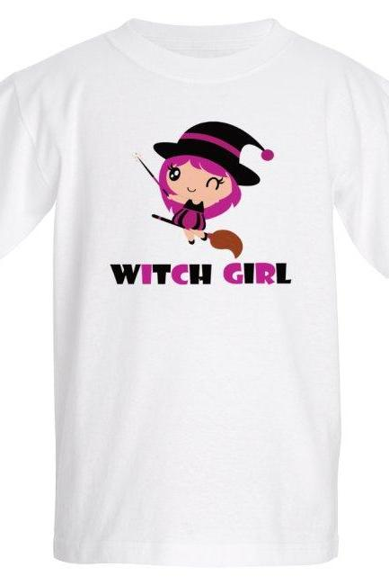 Cute witch girl Halloween - Kids T-shirt