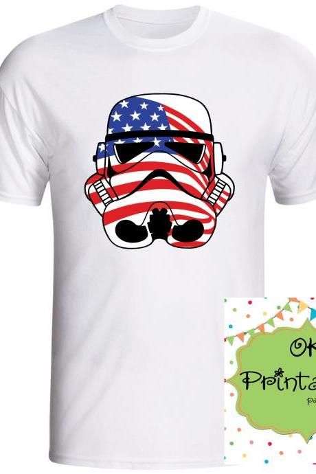 Stormtrooper Patriotic- 4th July Stormtrooper Printable Iron On Transf