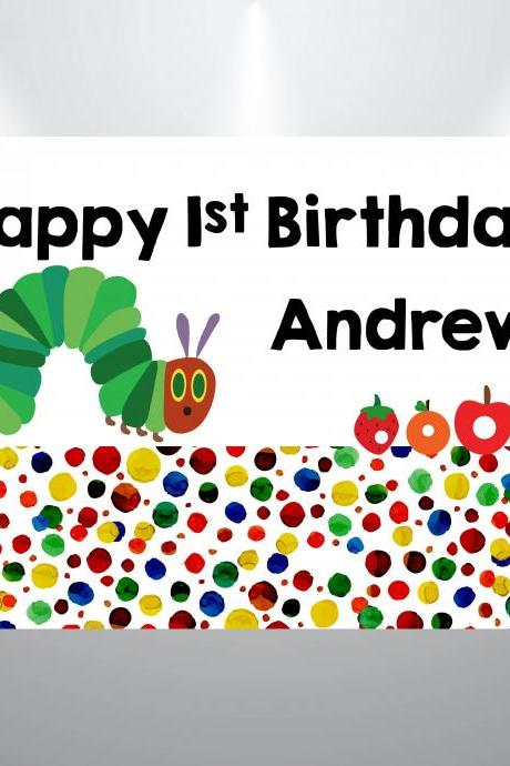 Very Hungry Caterpillar Birthday Backdrop