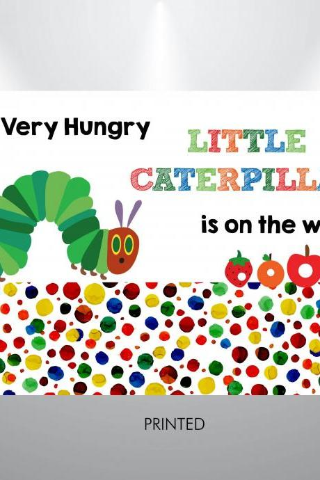 A very hungry little caterpillar is on the way Backdrop- Baby SHower backdrop