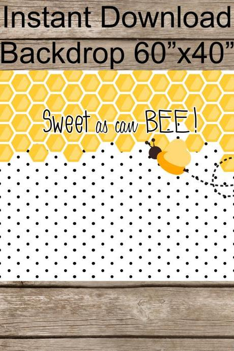 Sweet as can Bee Baby SHower Backdrop