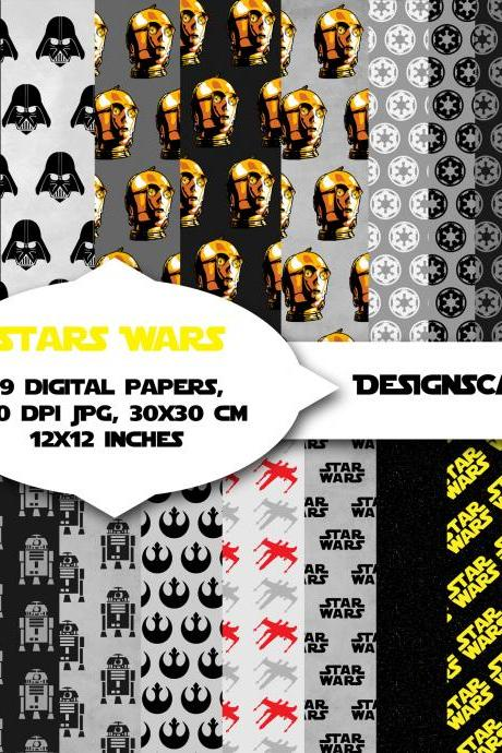 Star wars inspired digital paper