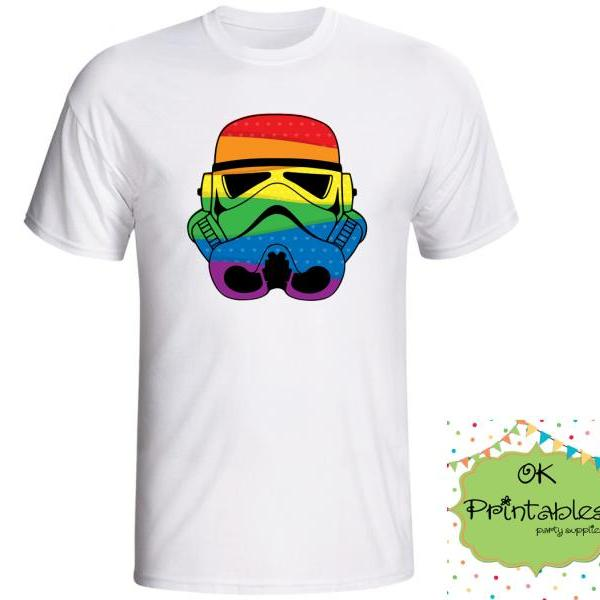 LGTB Pride Stormtrooper Iron on Transfer -JPG-