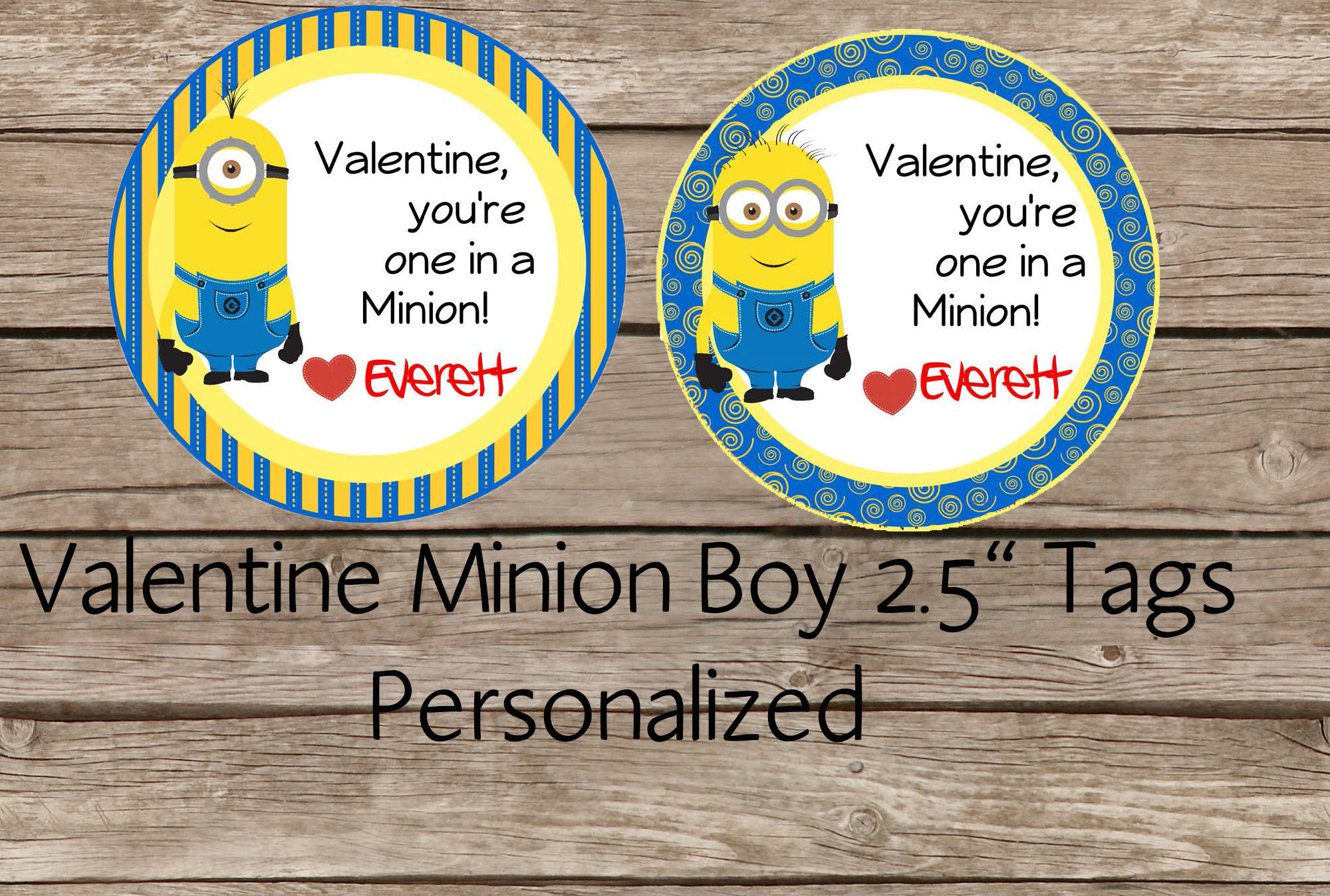 graphic relating to You Re One in a Minion Printable identify Minion Boy Valentine Tag- On your own Are 1 In just A Minion Valentine Tag - Valentine Cl Tag - Tailored 2.5 Inches Tag, Printable Tag