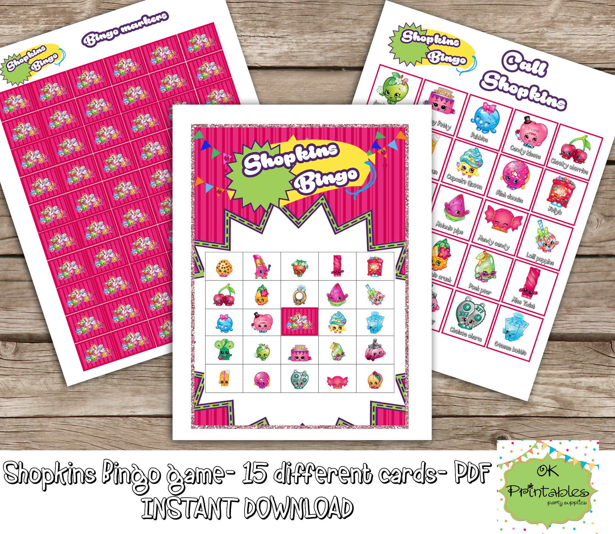 photograph regarding Shopkins Birthday Card Printable named Shopkins Bingo Video game (include things like 15 Alternate Playing cards)- Shopkins Printable Bingo -Shopkins Birthday Occasion -Shopkins Prefer - Shopkins Activity Occasion