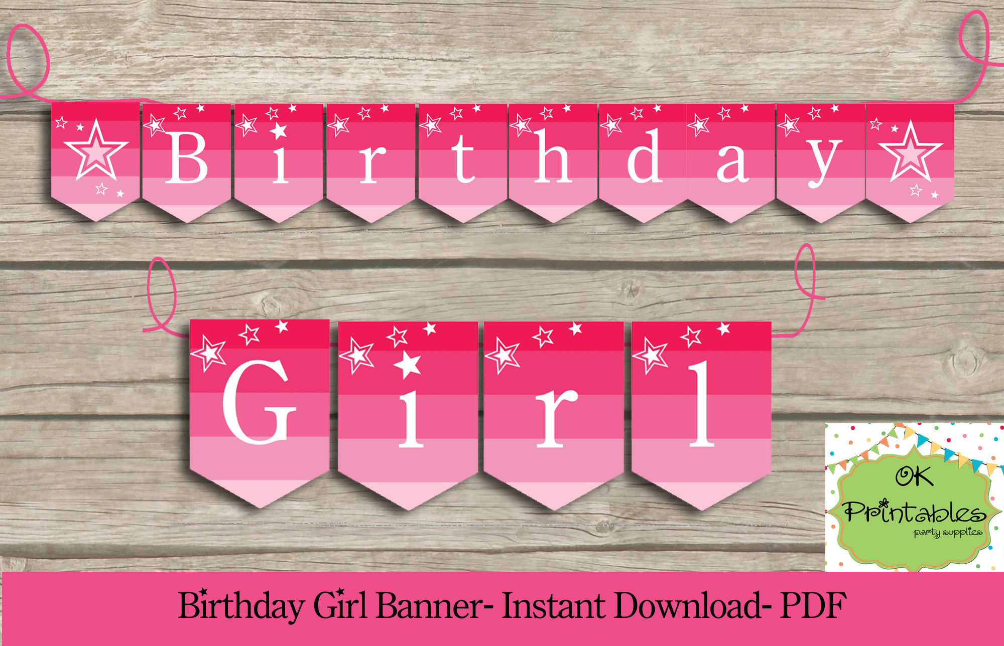 birthday girl party printable banner american girl party banner